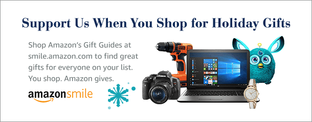 Support us when you shop for holiday gifts. Shop Amazon's gift guides at smile.amazon.com to find great gifts for everyone on your list. You shop. Amazon gives.