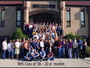 Class reunion photo